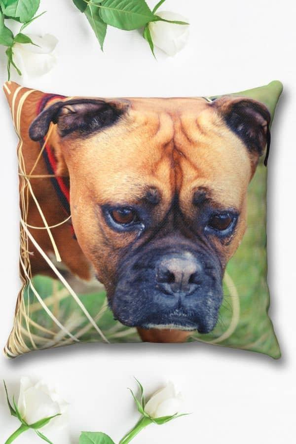 Boxer Dog Spun Polyester Square Pillow