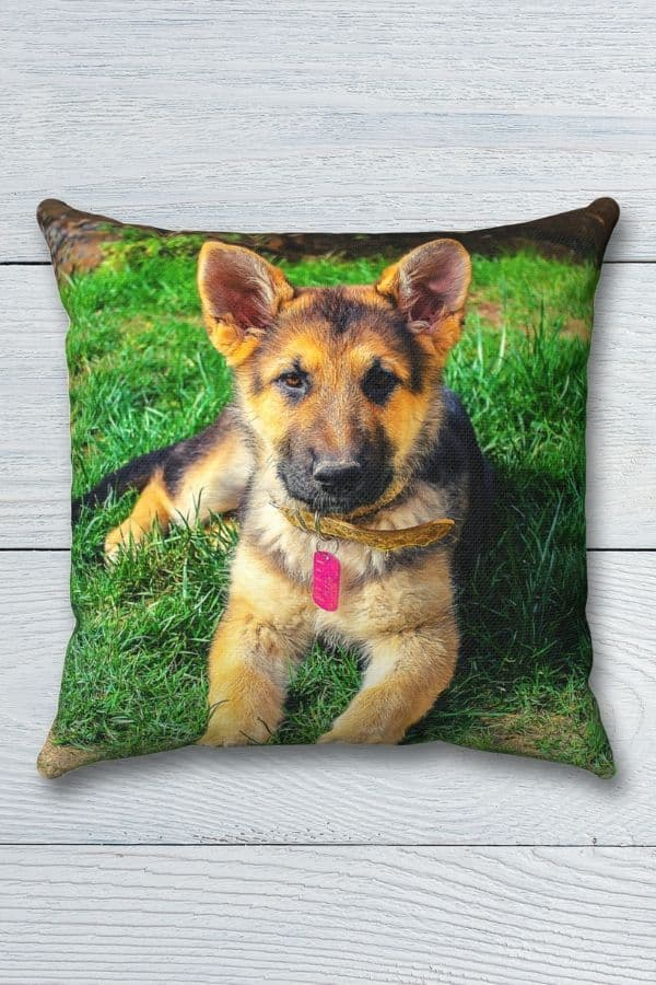 German Shepherd Spun Polyester Square Pillow