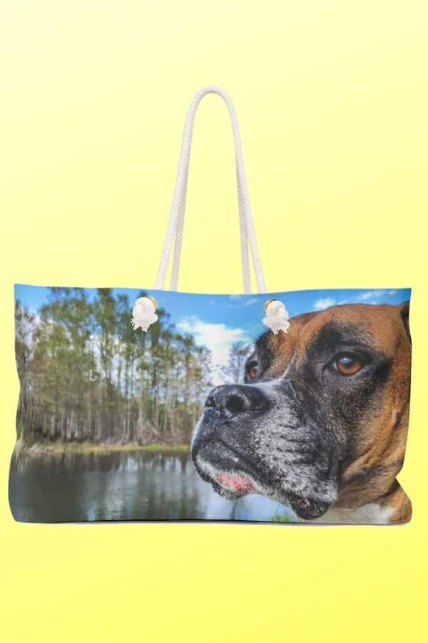 Boxer Dog Weekender Bag
