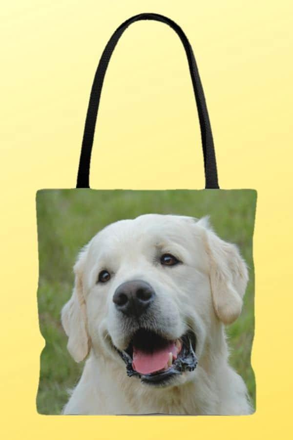 Golden Retriever AOP Tote Bag