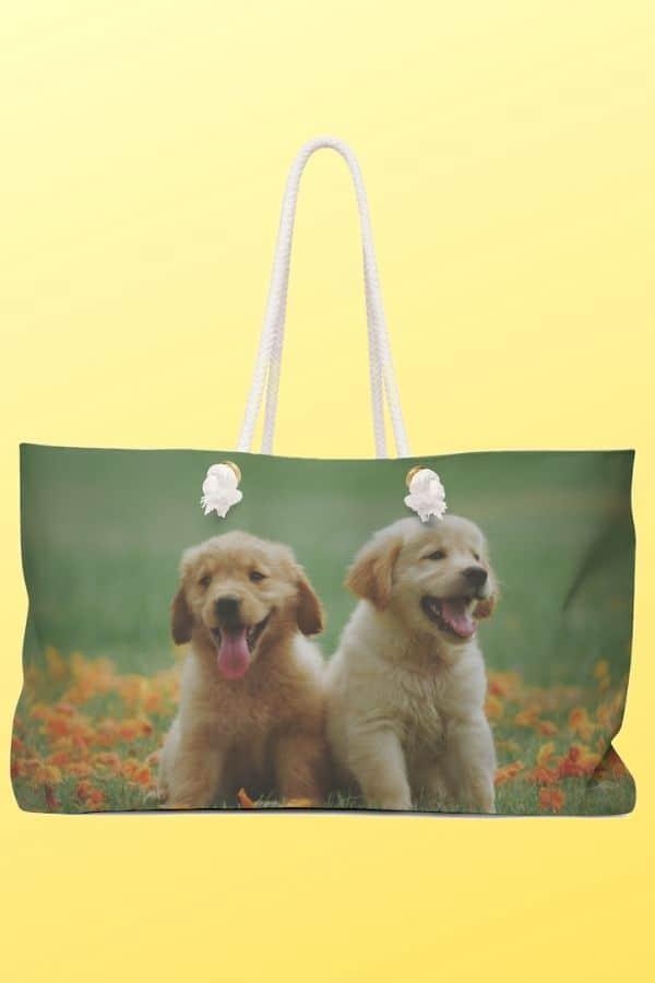 Golden Retriever Weekender Bag