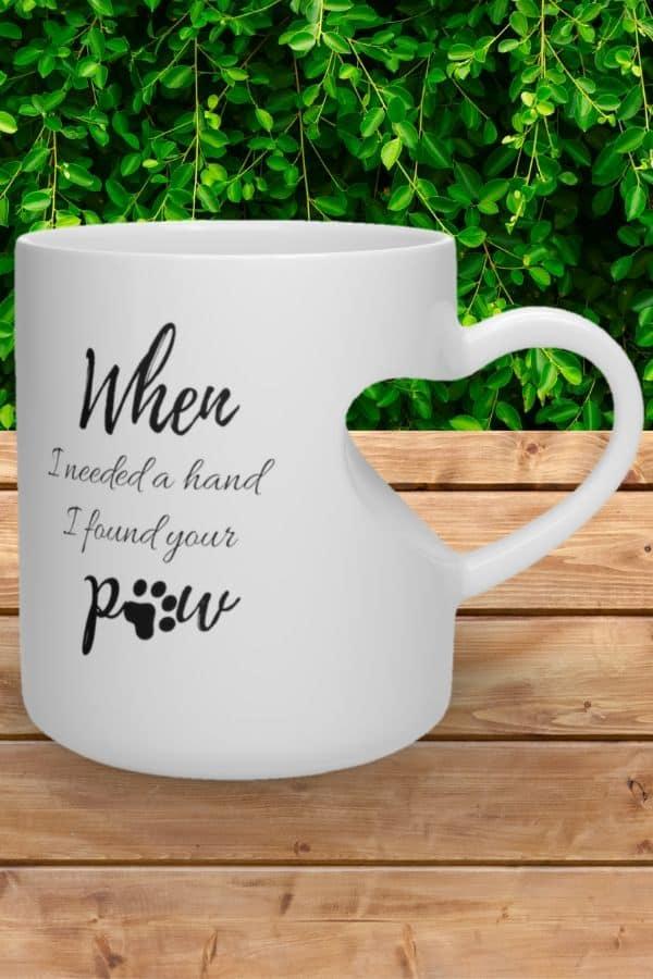 'When I Needed A Hand' Heart Shape Mug